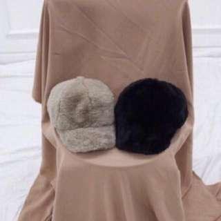 韓國秋冬毛絨帽(駝色)