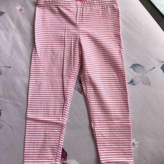 全新 女寶18M 紅白條紋 長褲/內搭褲