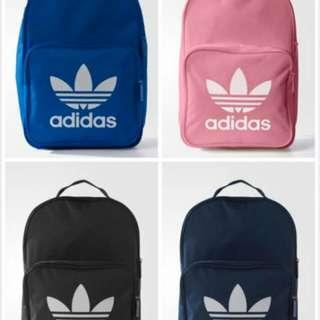 adidas 全新粉紅色後背包