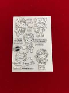 People stamps #8 scrapbook clear stamps