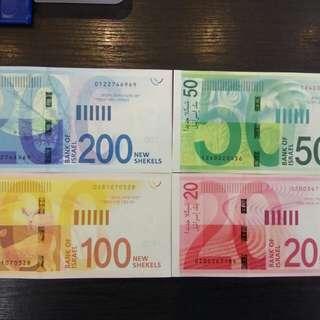 Israel unc banknotes