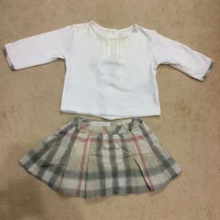 Burberry Original Top and Skirt