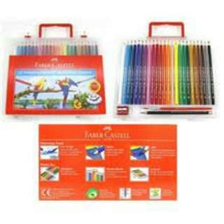 Faber castell 24 classic colours with 2B pencil and sharpener