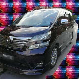 Vellfire zp gold edition (year make 2011)