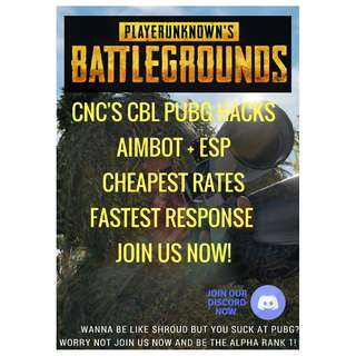 PUBG CNC HACK 100% UNDETECTED 1HOUR /1.50$ CHEAPEST RATE