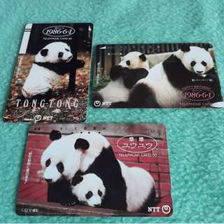 Japan Panda Postcard Set