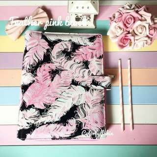 Feather pink black