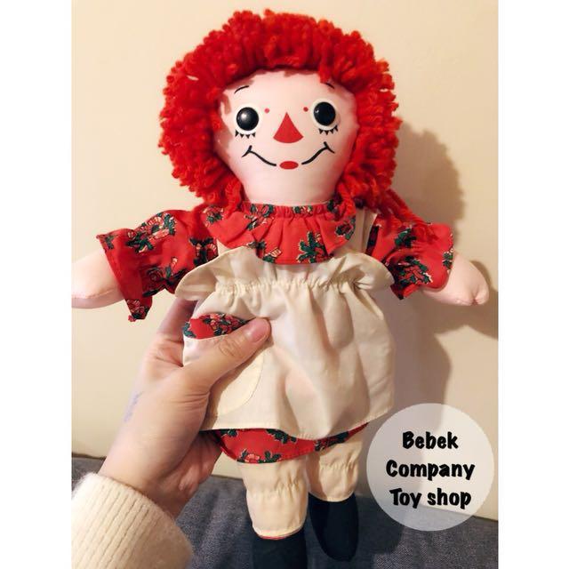 1997年 聖誕節 12吋/30cm raggedy Ann & Andy 古董 絕版玩具 布偶 安娜貝爾 娃娃