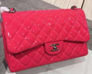 限量版 Chanel pink colour jumbo size bag 袋