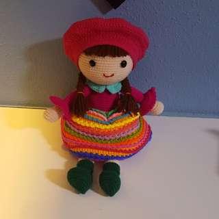 毛线钩针娃娃