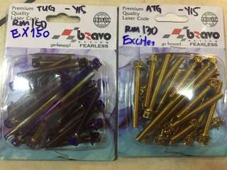 Screw gold tatinium Y15zr engene