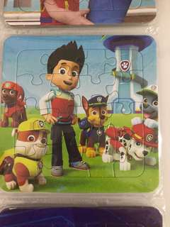 Puzzle- paw patrol theme party goodies bag packages, door gift, goody bag item