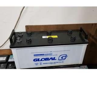 (二手中古電池) GLOBAL 130F51(115F51加強) 數值漂亮,品項優 貨車電池.卡車電池.發電機電池
