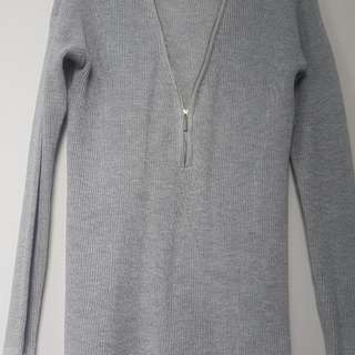 Dynamite Zip Up Sweater