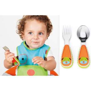Retail $9.90! Skip Hop Zootensils Fork & Spoon (For 12 Months Baby)