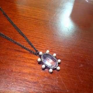 全新珍珠水晶項鍊