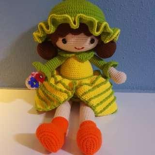毛线钩针女娃娃