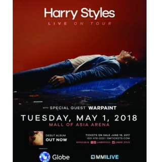 HARRY STYLES CONCERT TICKET