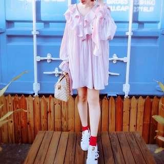 (二手)stylenanda洋裝粉紫色