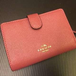 🇺🇸 正品 COACH 新款玫瑰色中夾/附拉鍊零錢袋/可預購其它顏色