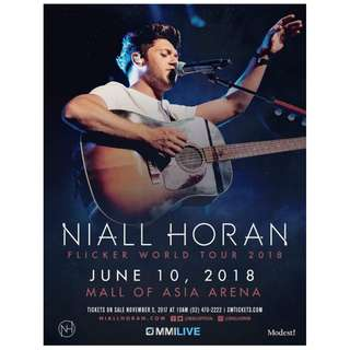 NIALL HORAN CONCERT TICKET