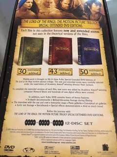魔戒三部曲 Lord of the rings DVD box set