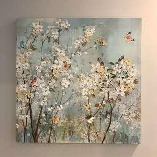 Beautiful Gel Canvas Art Painting 'Spring Bloom'