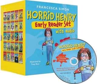 💥 NEW- Horrid Henry Early Reader 25 books Set with CD - Children Story books