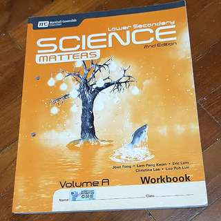 🚚 [INSTOCK] Lower Secondary Science Matters 2nd Edition Workbook