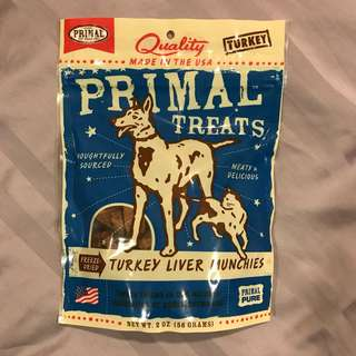 Primal Turkey Liver Munchies Treat