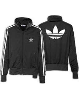 Black and white adidas track jacket