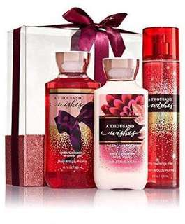 Bath and Body Works A thousand wishes Set