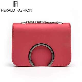 Herald Fashion Chain Women Crossbody Bag Luxury Handbags Women Bags Designer Small Flap Bag Women Shoulder Bag