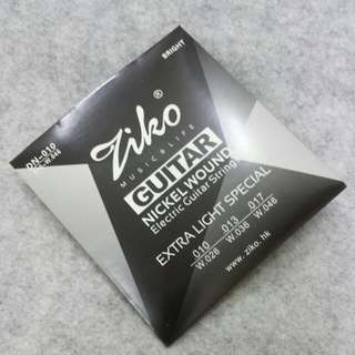 Hex Core Electric Guitar Strings - Ziko DN-010 (Full Set) - include postage