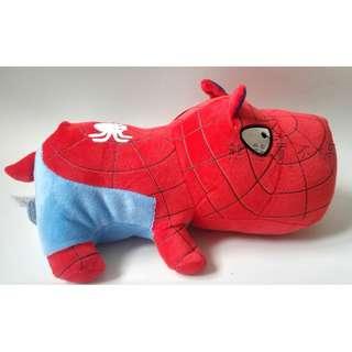 蜘蛛人卡通趴趴狗 29cm 玩偶 娃娃 毛絨公仔 超柔觸感