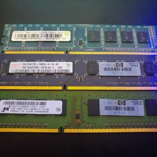 DDR3 RAM 1GB 2GB 4GB(不散)