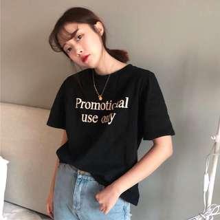A1204🌸3色*百搭字母印花短袖T恤