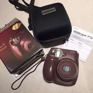 拍立得 送專用保護殼Fujifilm 富士 instax mini 7S 巧克力色 相機