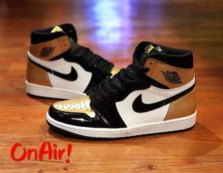 AJ1 RETRO HIGH OG GOLD TOE
