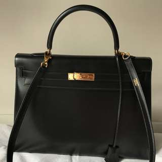 Hermes Kelly Box Sellier 35CM like NEW!