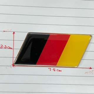 (1 pcs) Aluminium Germany Rear Emblem Badge Fit for AUDI and WV cars.