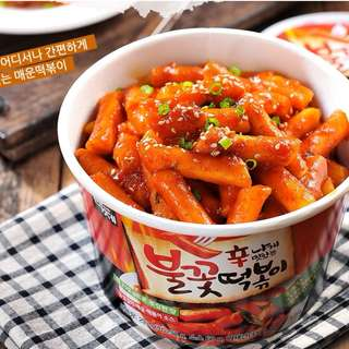 🚚 即期出清 韓國 百濟(辣)辣炒年糕 即食杯 有料大份量分享杯 293g