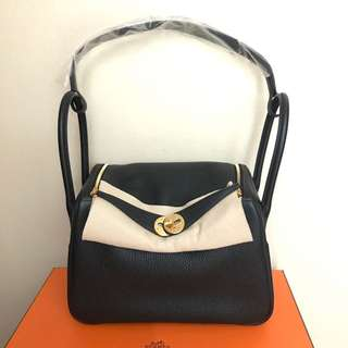 💯% Authentic BN Hermes Lindy 26 Black Clemence GHW