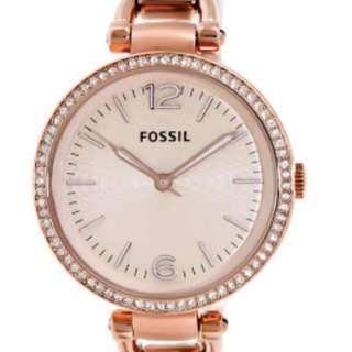 Georgia Rose-Gold Stainless-Steel Analog Quartz Fashion Watch