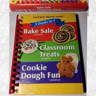 3 Cookbooks in 1: Classroom Treats, Bake Sale, Cookie Dough Fun Cookbook