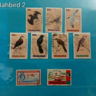 Bahamas stamps, birds
