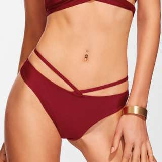 Red/Burgundy Bikini Bottom