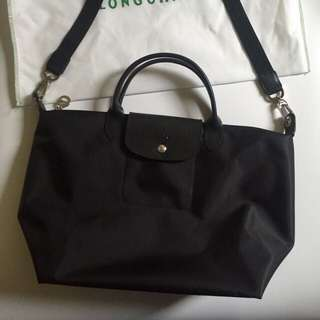 Black Longchamp handbag