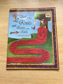 The girl who knits and Knits and knits (si gadis perajut)