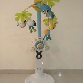Hanging mobile toy and stand